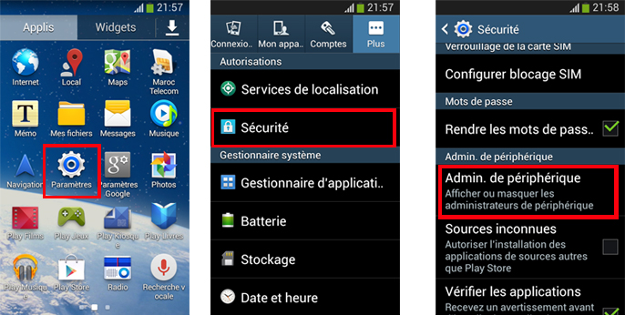 application geolocalisation portable android