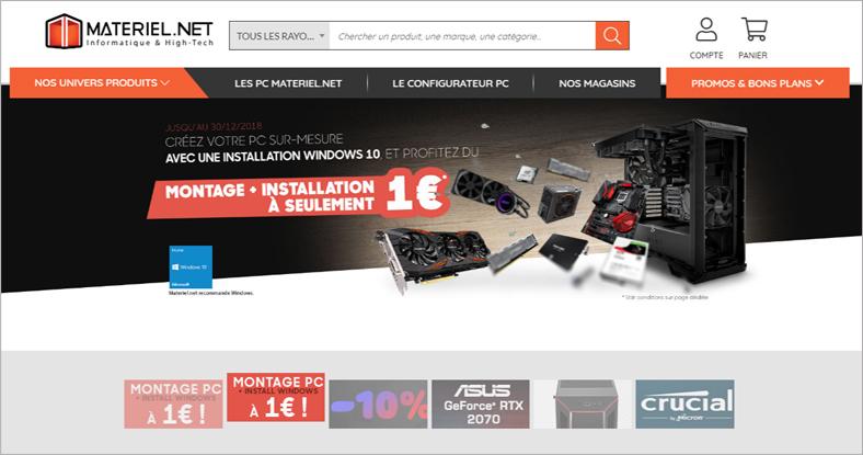 98ba21309a3 Matériel.net est un site qui vise principalement à vendre du matériel  informatique et high tech. Vous pouvez trouver une myriade de produits pour  ...