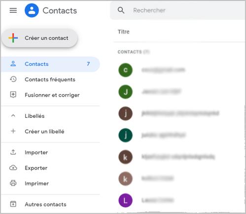 Où se trouve le carnet d'adresses sur Gmail ?