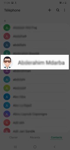 mettre une photo sur un contact sur un téléphone Android de Samsung