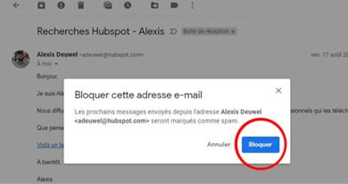 Comment bloquer une adresse mail sur Gmail ?